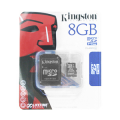 Kingston microSDHC Card 8GB + Adapter
