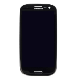 Samsung Front Cover + Display Unit for Galaxy S3 Neo black