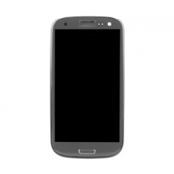 Samsung GT-I9300 Frontcover + Display Unit grey