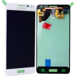 Samsung G850F Galaxy Alpha LCD Display Module, White