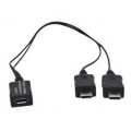 Samsung Micro-USB Dual Male Y Adapter bulk