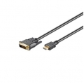 HDMI-DVI 1.0m cable DVI-D 18+1Single link