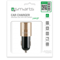 4smarts Hybrid 2.0 In-Car Charger champagne reversible metal 3.1A