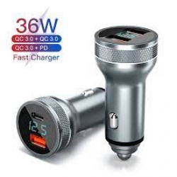 Зарядное устройство Quick Charge 3,0 USB+USB Type-C QC PD 3,0 36 Вт
