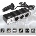 Разветвитель на 3 прикуривателя WF-0120 + USB 12V/24V