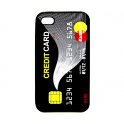 Silicone Sleeve CreditCard for iPhone 4/4S black bulk