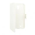 SAMSUNG GALAXY S4 I9500, I9505 TRENDY8 FIBER BOOK CASE - WHITE